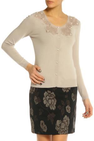 Блуза Elisa Fanti. Цвет: бежевый