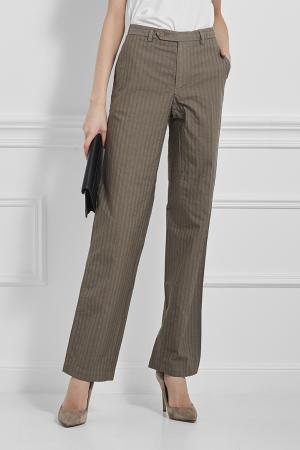 Хлопковые брюки Newyorkindustrie. Цвет: зеленый