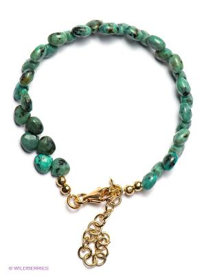 Браслет La Mer Collections. Цвет: бирюзовый, зеленый