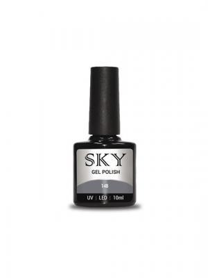Гель-лак SKY 10 мл №148,. Цвет: серый