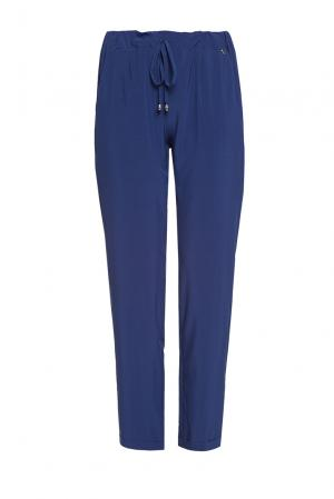 Укороченные брюки в стиле casual PF-189687 Mokko Italy. Цвет: синий