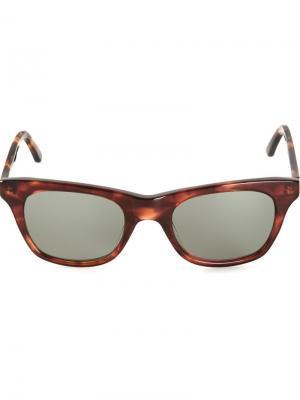 Солнцезащитные очки Wayfarer Chandler X Selima Optique. Цвет: коричневый