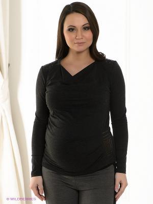 Джемпер для беременных ФЭСТ. Цвет: антрацитовый