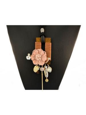 Колье Miss Bijou. Цвет: коричневый,серебристый,бежевый,золотистый,белый,черный
