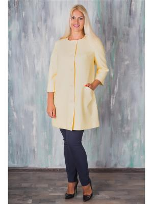 Пальто AVILA. Цвет: желтый, белый