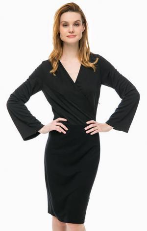 Черное платье с широкими рукавами Cinque. Цвет: черный