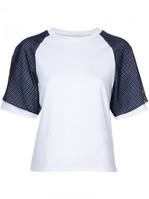 Многослойная футболка Facetasm. Цвет: белый