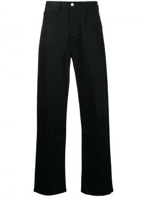 Широкие джинсы Ex Infinitas. Цвет: чёрный