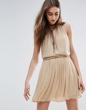 Raga Телесное платье мини с отделкой Be Mine. Цвет: бежевый
