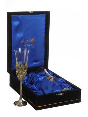 Набор бокалов для шампанского Оливки  Eagle Pewter. Цвет: золотистый, серебристый