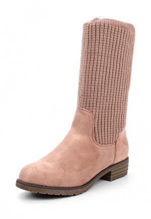 Полусапоги Ideal Shoes. Цвет: розовый