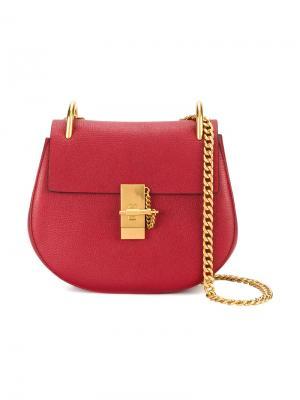 Большая сумка на плечо Drew Chloé. Цвет: красный