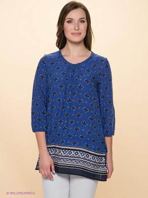Блузка Betty Barclay. Цвет: синий, бежевый