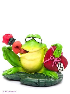 Фигурка-лягушка Донжуан Жора The Comical World of Stratford. Цвет: зеленый, белый, желтый, красный