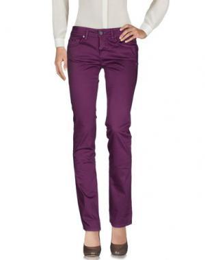 Повседневные брюки DEK'HER. Цвет: розовато-лиловый