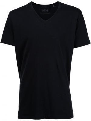 Классическая футболка с V-образным вырезом Atm Anthony Thomas Melillo. Цвет: чёрный