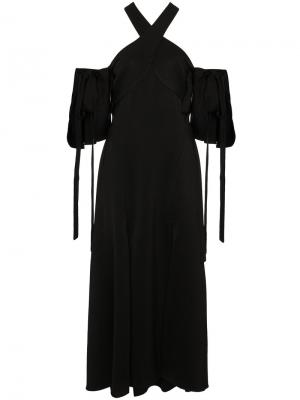 Платье миди с вырезом-халтер Ellery. Цвет: чёрный
