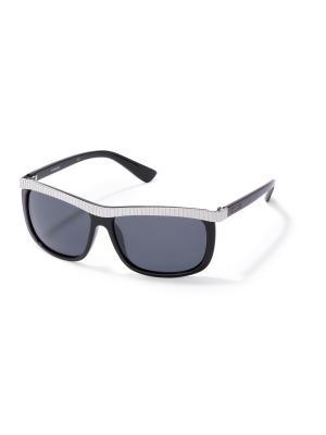 Солнцезащитные очки Polaroid. Цвет: черный, серый