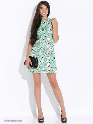 Платье Colambetta. Цвет: зеленый, белый, черный