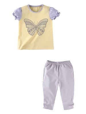Комплект одежды Наша Мама. Цвет: желтый, светло-серый