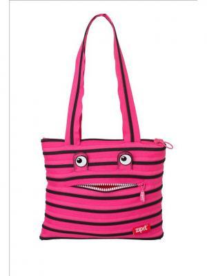 Сумка Monster Tote/Beach Bag, цвет розовый/черный ZIPIT. Цвет: розовый