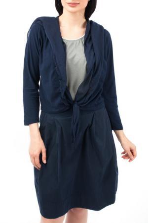Жакет с капюшоном EUROPEAN CULTURE. Цвет: темно-синий
