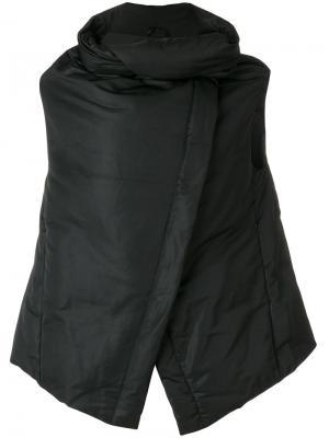 Куртка-пуховик с запахом Ivan Grundahl. Цвет: чёрный