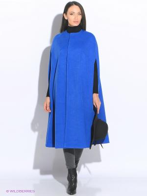Кейп (пальто б/р) Colambetta. Цвет: синий