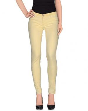 Повседневные брюки 0/ZERO CONSTRUCTION. Цвет: светло-желтый