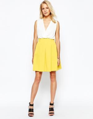2nd Day Пышная желтая юбка. Цвет: желтый