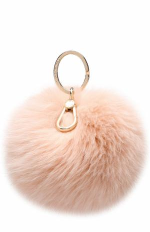 Брелок Bubble с мехом Furla. Цвет: розовый