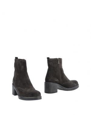 Полусапоги и высокие ботинки LORENZO MARI. Цвет: темно-коричневый