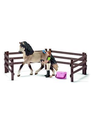 Набор для ухода за животными, Андалузский SCHLEICH. Цвет: бежевый, розовый, фуксия