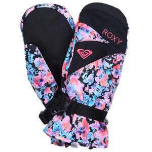 Перчатки сноубордические женские  Rx Jetty Gloves Irregular Dots True Roxy. Цвет: черный,белый
