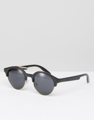 AJ Morgan Солнцезащитные очки в стиле ретро. Цвет: черный