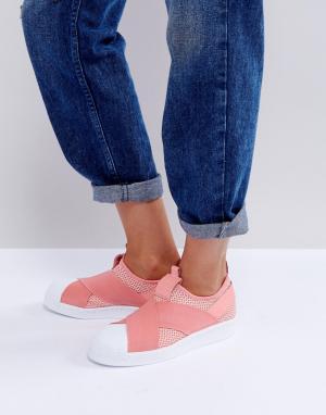 Adidas Originals Кроссовки-слипоны. Цвет: оранжевый