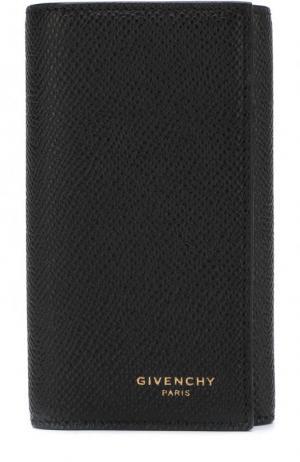 Кожаный футляр для ключей Givenchy. Цвет: черный