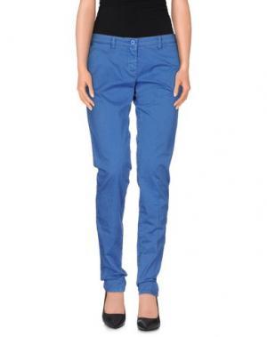 Повседневные брюки UZÈS. Цвет: синий