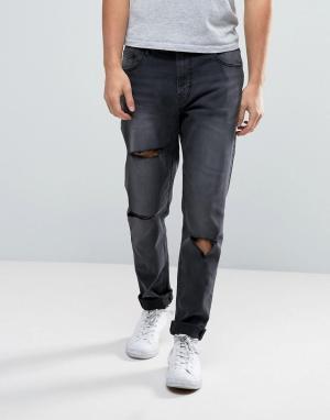 Waven Черные джинсы скинни с заниженным шаговым швом. Цвет: черный