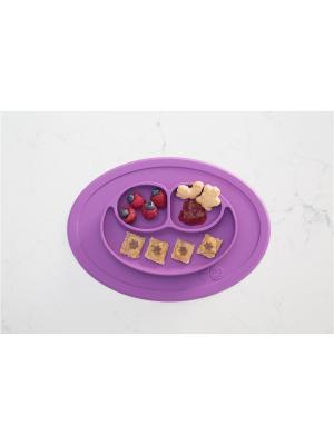 Тарелка с подставкой Ezpz Mini Mat Berry. Цвет: темно-фиолетовый