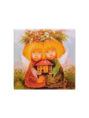 Магнит Ангелы-хранители дома Artangels. Цвет: оранжевый, бежевый, желтый