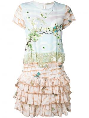 Платье с принтом-пейзажем Piccione.Piccione. Цвет: многоцветный