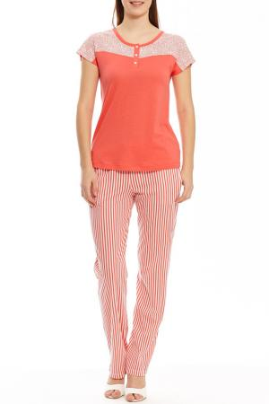 Пижама с брюками Relax Mode. Цвет: розовый