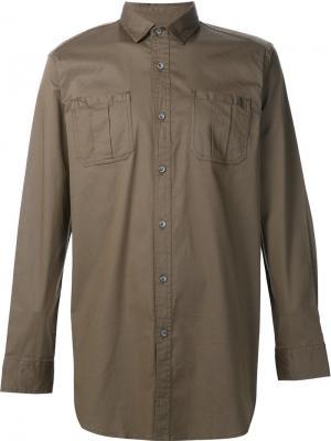 Рубашка на пуговицах Publish. Цвет: коричневый