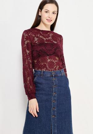 Блуза Only. Цвет: бордовый