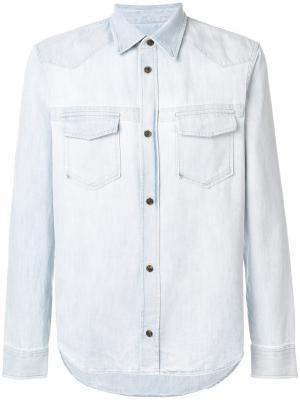 Джинсовая рубашка с карманами спереди Maison Margiela. Цвет: синий
