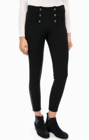 Трикотажные брюки на пуговицах Kocca. Цвет: черный