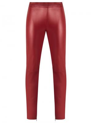 Leather leggins Reinaldo Lourenço. Цвет: красный