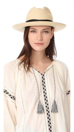 Шляпа Clasico с двойным шнуром Artesano. Цвет: ваниль/черный