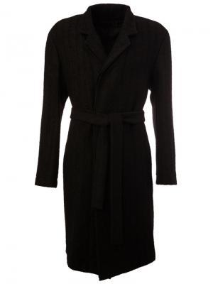 Пальто с поясом Ann Demeulemeester. Цвет: чёрный